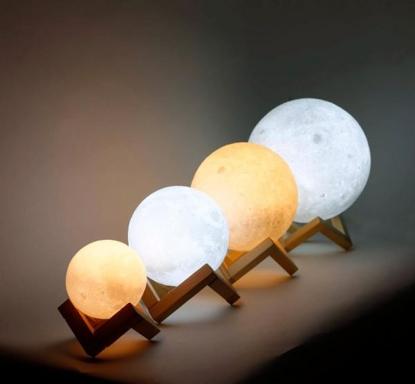3D Moon Lamp Rechargeable Night Light