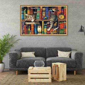 Bookshelf and Cat Jigsaws Puzzles