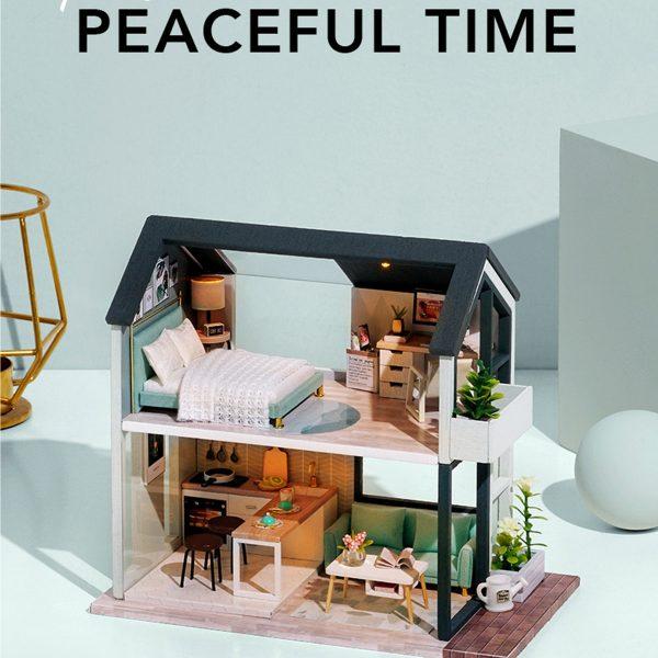 DIY Modern Dollhouse Miniature Kit