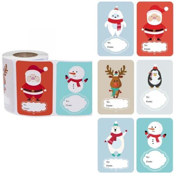 Christmas Sticker Labels 250 Pieces