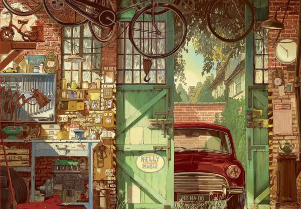 Garage Jigsaw Puzzle 1500 Pieces