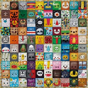 Animals Cartoon Icons Jigsaw Puzzle