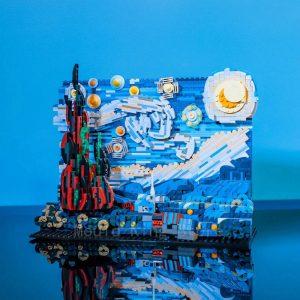 Starry Van Gogh Building Block Lego