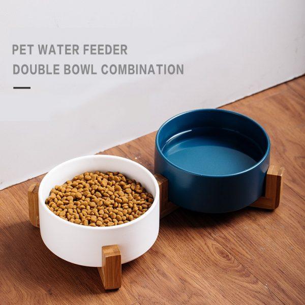 Ceramic Dog and Cat Bowl
