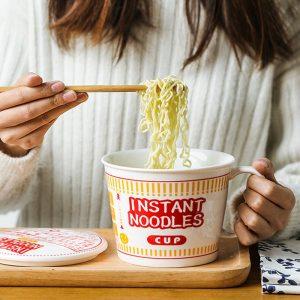 Cup Noodles Ceramic Cup Bowl